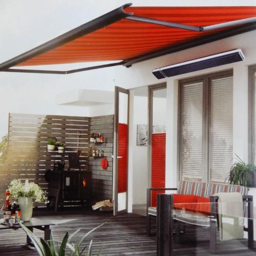... 2400W Commercial Alfresco Radiant Strip Patio Heater Electric Indoor  Outdoor ...