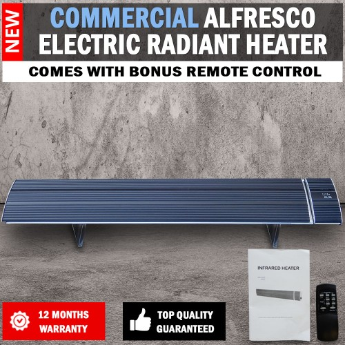 2400W Commercial Alfresco Radiant Strip Patio Heater Electric Indoor ...