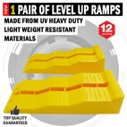 NEW 1 Pair Level Up Caravan/RV 3 Multi Level Ramps UV Heavy Duty Light Weight
