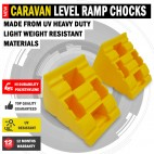 NEW Heavy Duty UV Resistant. Caravan Leveling Level Hi Durability Ramp Chocks