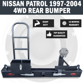 NEW Nissan Patrol Y60 1997 - 2004 Rear Bumper 4WD Wheel Carrier