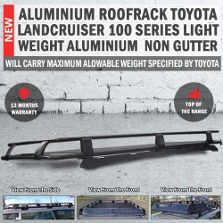Aluminium Roof Rack Roofrack Toyota 100 Series 2002 - 2007 Light Weight