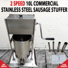 10L Commercial Stainless Steel Sausage Meat Stuffer & Filler Vertical Machines