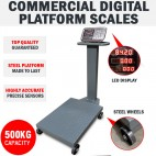 Commercial 500KG Steel Electronic Computing Digital Platform Scales Postal