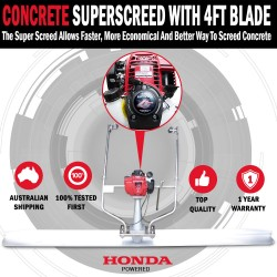 NEW Honda Powered GX35 4 Stroke Concrete Finishing Screed Trowel With 4ft Blade