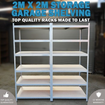 Metal Warehouse Racking Rack Storage Garage Shelving Shelf Shelves