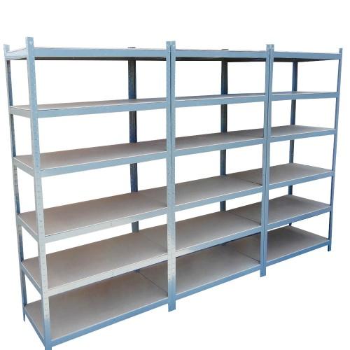 270cm Metal Warehouse Racking Rack Storage Garage Shelving