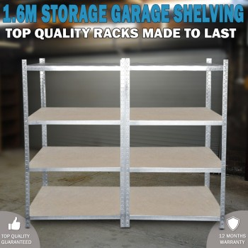 1.6 Metal Warehouse Racking Rack Storage Steel Garage Shelving Shelf Shelves
