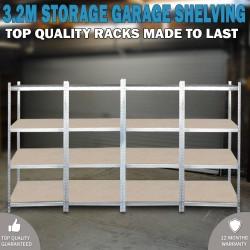 3.2 Metal Warehouse Racking Rack Storage Steel Garage Shelving Shelf Shelves