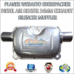 PLANER WEBASTO EBERSPACHER DIESEL AIR HEATER 24MM EXHAUST SILENCER MUFFLER