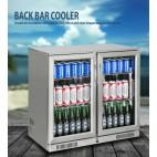 NEW FULL STAINLESS 2 Door Under Bench Display Drinks Fridge Refrigerator
