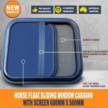 Sliding Window Caravan Horse Float Motorhome with Screen 600mm x 500mm