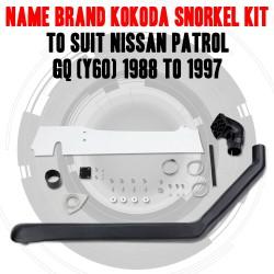 Name Brand Kokoda Snorkel Kit to Suit Nissan Patrol GQ (Y60) 1988 to 1997