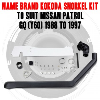 Name Brand Kokoda Snorkel Kit to Suit Nissan Patrol GQ (Y60) 1988 to 1997