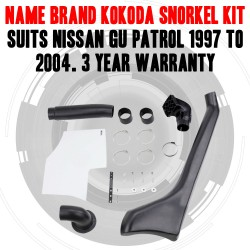 Name Brand Kokoda Snorkel Kit Suits Nissan GU Patrol 1997 TO 2004 3YR WARRANT