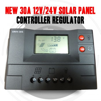 NEW 30A 12V/24V Solar Panel Controller Regulator Charge Battery Protection