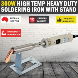 300W Heavy Duty Soldering Iron with STAND Chisel Point 240V 300 Watt