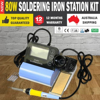 80W Soldering Iron Station Kit De-soldering Temperature Controlled
