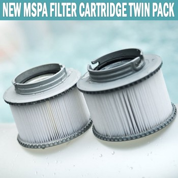 MSPA Filter Cartridge Twin Pack Compact Size Suits All Models Of M Spas