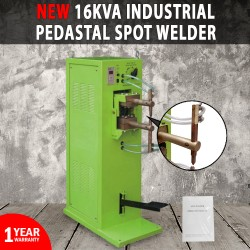 NEW Industrial Pedestal Spot Welder 16KVA 2.5+2.5mm Water Cooled