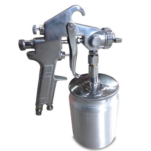 Suction Feed Heavy Duty Paint Spray Gun 600ml 1 4 Air Hose Compressor Fitting