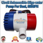 12volt Submersible Bilge water Pump For Boat, 550GPH, 2090 LPH