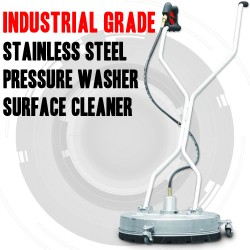 INDUSTRIAL GRADE STAINLESS STEEL PRESSURE WASHER SURFACE CLEANER