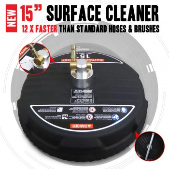 "NEW Industrial Grade 15"" inch Surface Cleaning Cleaner For Pressure Washer"