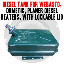 DIESEL TANK FOR WEBASTO, DOMETIC, PLANER DIESEL HEATERS, WITH LOCKABLE LID