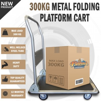 NEW 300KG Heavy Duty Fold Platform Cart Moveable Dolly Push Hand Truck Trolley