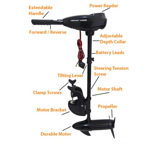 Vehicle parts accessories 55lbs 8 speed trolling motor for Cheap saltwater trolling motor