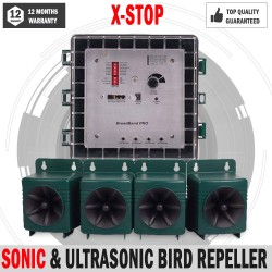 NEW X-Stop Sonic & Ultrasonic Bird Repeller Commercial & Farms