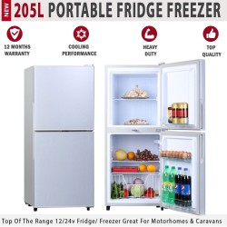 205L 12V Portable Fridge Freezer For Caravan Motorhome RV Boat