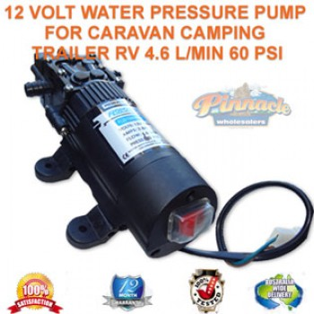 12 VOLT WATER PRESSURE PUMP FOR CARAVAN CAMPING TRAILER