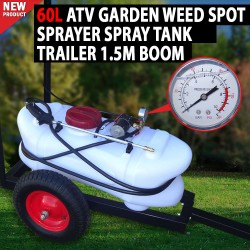 60L ATV Garden Weed Spot Sprayer Spray Tank Trailer Spray Cart,Trolley With Boom