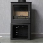 NEW Cast Iron Wood Heater Pot Belly Heater Slow Combustion 5KW Heats - 11 Square