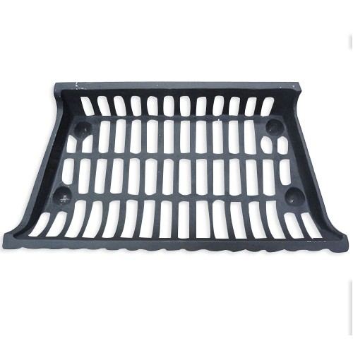 Cast iron fire place grate for holding wood logs