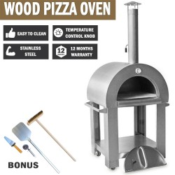 Thor Wood Burning Kitchen Pizza Stainless Steel Oven