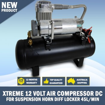 XTREME 12 VOLT AIR COMPRESSOR DC FOR SUSPENSION HORN DIFF LOCKER 45L/min