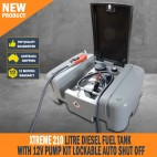 New Xtreme 210 Litre Diesel Fuel Tank With 12V Pump Kit Lockable Auto Shut Off